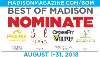 Best of Madison 2019 Nomination Prairie Athletic Club