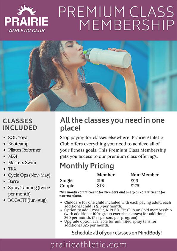 Premium Class Membership at PAC