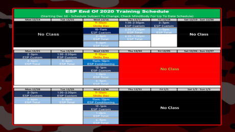 Holiday 2020 Elite Sports Performance - ESP Schedule at Prairie Athletic Club