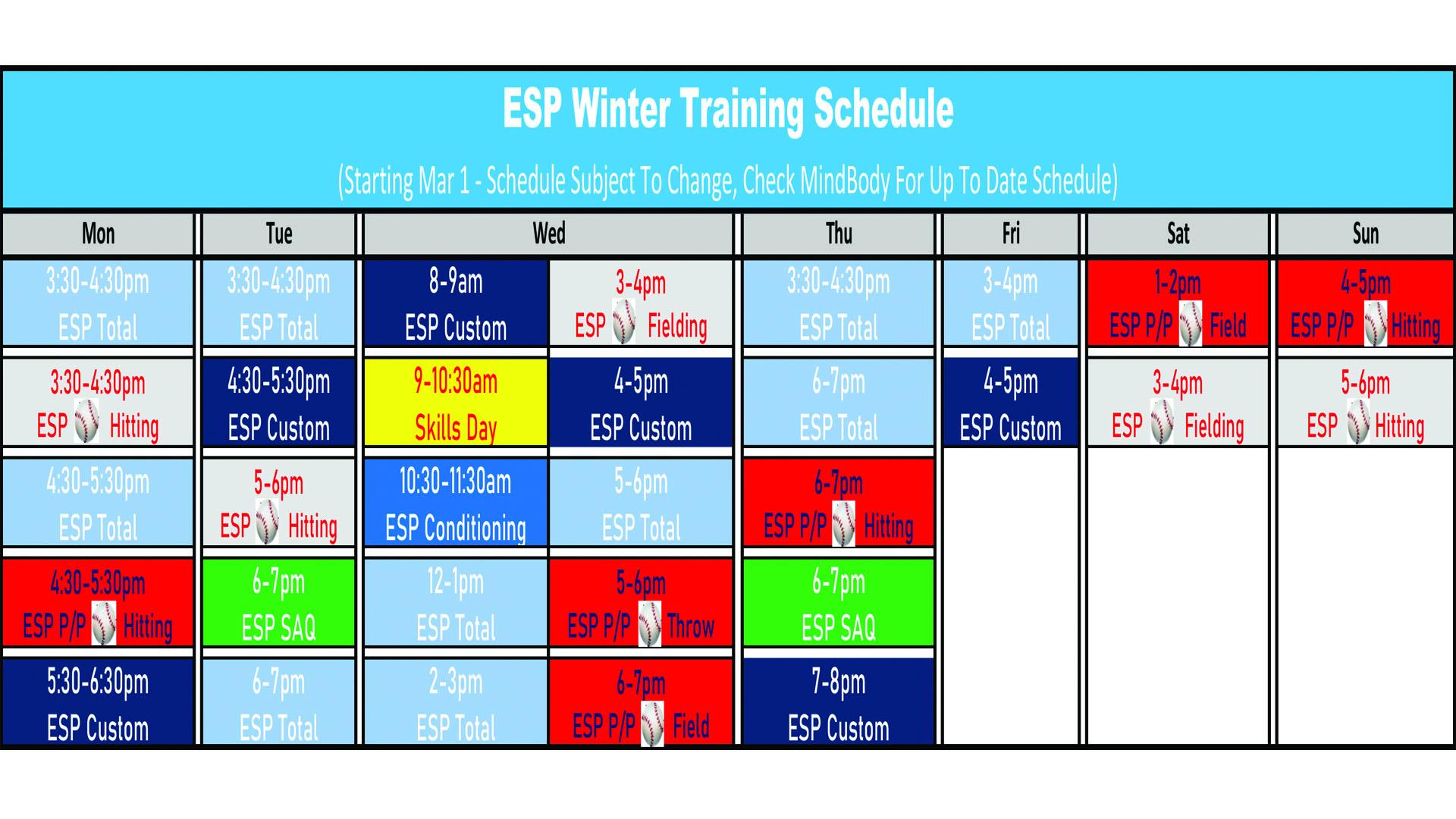 Mar 1 Baseball 2021 ESP Schedule